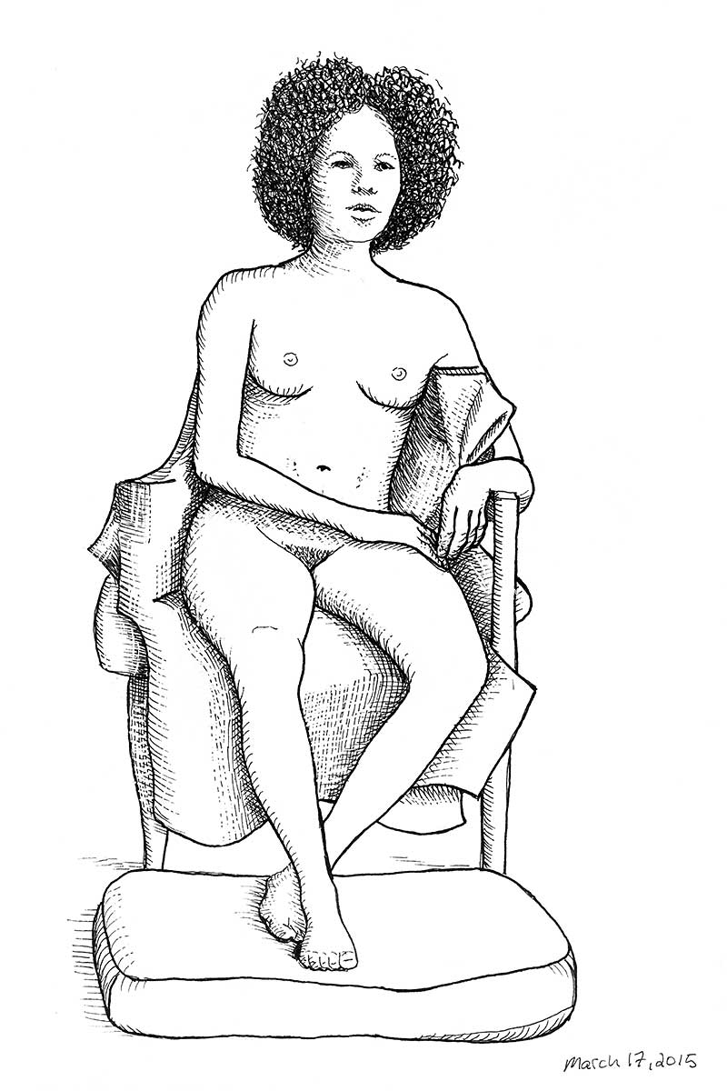Tuesday night seated nude model